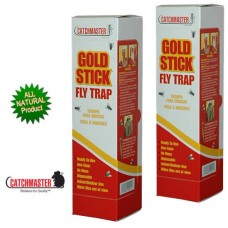 Catchmaster Gold Stick 962 Large Glue Fly Trap and Fly Pheromone Attractant (BOX OF 24)