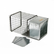 WCS™ Coontroller™ Raccoon Excluder by 14 gauge, 1x1 mesh, 22 gauge steel cap w/3 removable  flanges