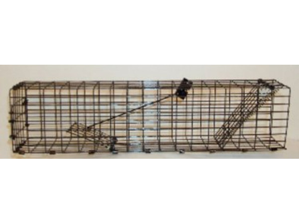 WCS™ Simple Squirrel Trap - Narrow - 4.5 x 3 x 17 One-way spring loaded door, fits in gutter