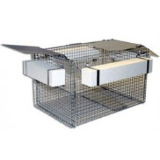 Safeguard Turtle Trap 53800 - 30Lx20Wx18H - texture coated ramps, 4 floats, slide door