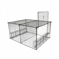 WCS™ Large Pigeon Trap 7 panels, 10 bobbin doors 4L x 3W x 2H will hold 60+ birds at a single setting