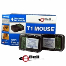 T-1 Pre-baited mouse bait station (4 pre box 1oz each)